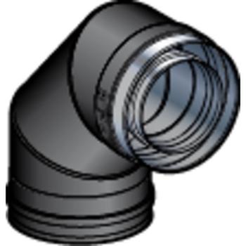 Coude 80/130 90° DP Noir Mat