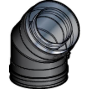 COUDE 100/150 45° DP NOIR MAT